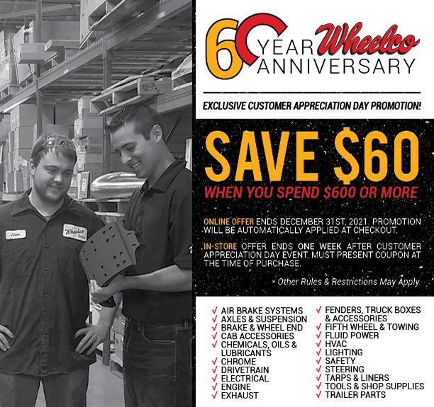 Save $60 when you spend $600 or more. Online offer ends December 31, 2021.